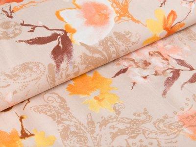 Webware Viskose Milliblu´s - florale Ornamente - beige