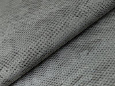 Leichter reflektierender Jackenstoff  by Little Darling - Camouflage - silbergrau