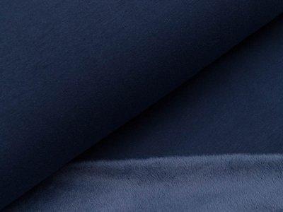 Alpenfleece uni - dunkles blau