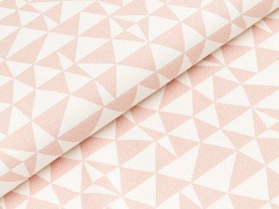 Canvas by Tillisy - geometrisches Muster Dreiecke - nuderosa/wollweiß