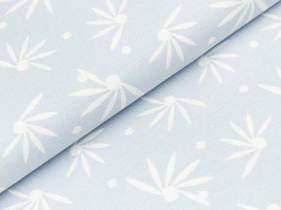 Canvas by Tillisy - halbe Blüten und Punkte - blaugrau