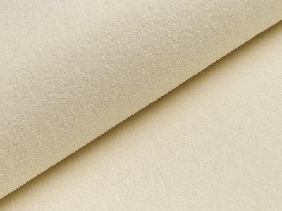 Baumwollfleece - uni  wollweiß