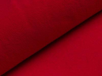 Baumwollfleece - uni rot