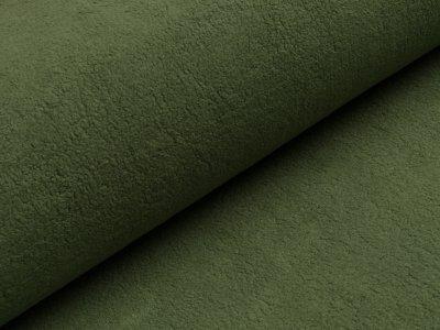 Baumwollfleece - uni altgrün