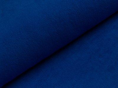 Baumwollfleece - uni kobaltblau
