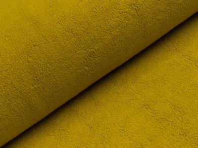 Baumwollfleece - uni senf