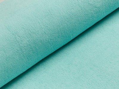 Baumwollfleece - uni helles mint