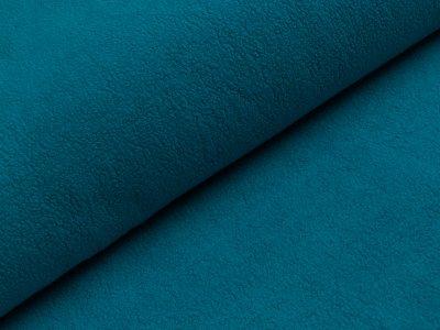 Baumwollfleece - uni aschblau