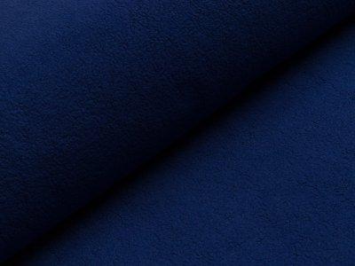 Baumwollfleece - uni dunkles blau