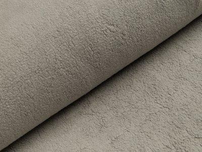 Baumwollfleece - uni grau