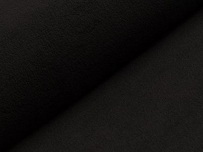 Baumwollfleece - uni schwarz