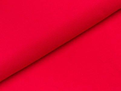 Glattes Bündchen im Schlauch - uni rot