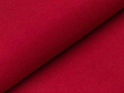Glattes Bündchen im Schlauch - uni dunkles rot