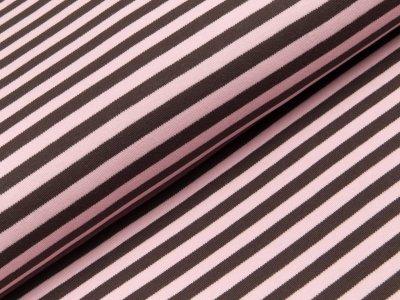 Interlock - Steifen - rosa/braun