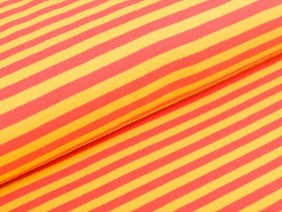 Interlock - Streifen - gelb/orange