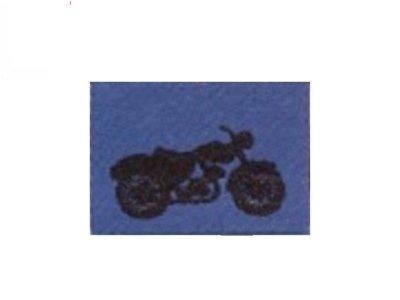 Serie Real Beat Kids Wear Einnähetikett Motorrad blau