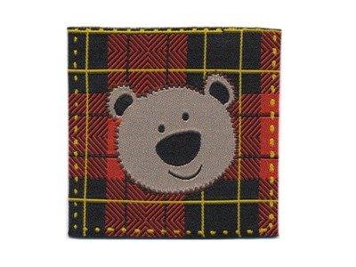 Serie London Bears Webetikett z. Aufnähen rot