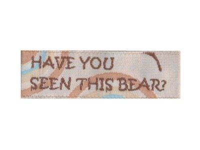 Webetikett Serie MOST WANTED BEAR beige