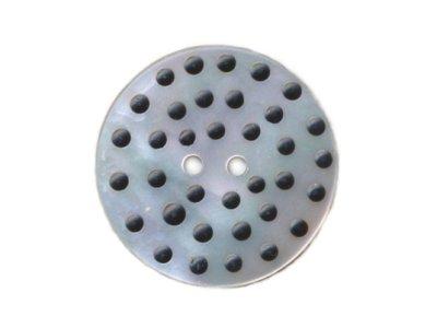 Perlmuttknopf mit Mini-Dots 30 mm