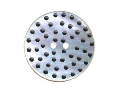 Perlmuttknopf mit Mini-Dots 36 mm