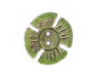 Echt Steinnuss, Blumenknopf grün 21 mm