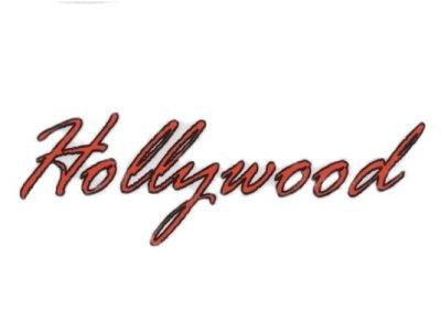 "Transfer-Bild ""Hollywood"" zum Aufbügeln rot"