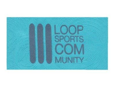 Einnäh-Webetikett Loop Sports Serie LOOP türkisblau