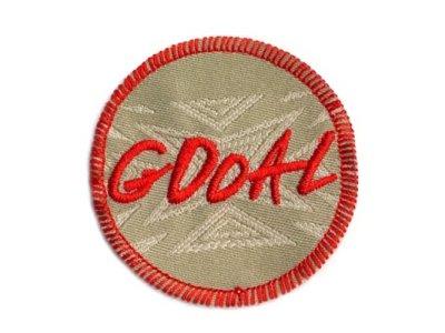 """Applikation Serie """"GOOAL"""" Gooal rund zum Aufkleben khaki"""
