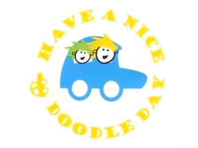 Transfer Bild Doodle Car Serie Doodle Day blau