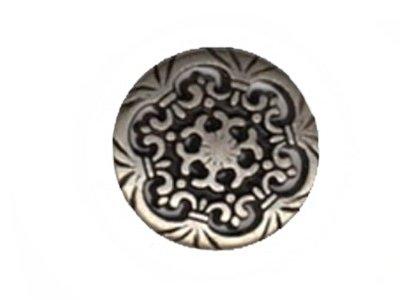 Metallknopf Antik-Blume 23mm