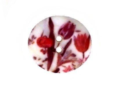 Perlmutt Knopf Blumenmuster 23mm