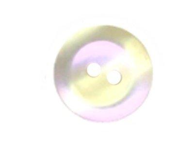 Runder Knopf mit Permutteffekt 15mm weiß