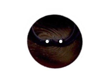Runder Knopf mit Einkerbung 18mm dunkelbraun