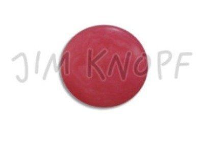 Echt Steinnuss, runder Knopf 15mm rot
