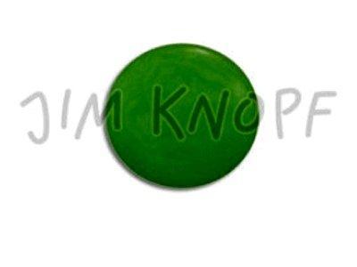 Echt Steinnuss, runder Knopf 15mm grün