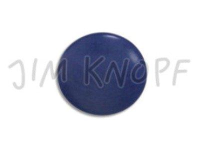 Echt Steinnuss, runder Knopf 15mm blau