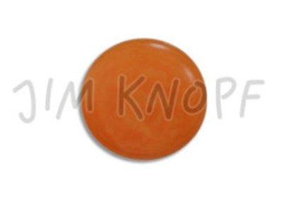 Echt Steinnuss, runder Knopf 15mm orange