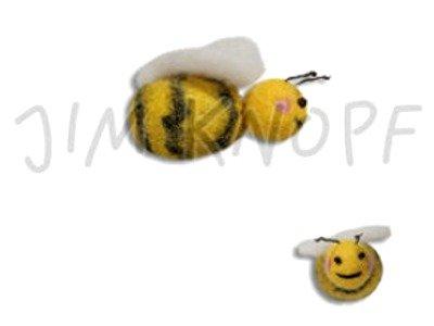 """Filz-Applikation """"Honigbienchen Lilli"""" 4,5cm gelb"""