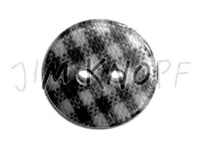 "Knopf ""Vichy-Karo"" 14mm weiß"