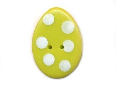 """Knopf """"gepunktetes Ei"""" 15mm erbsgrün"""