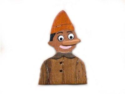 "Holzknopf ""Pinocchio"" 20mm braun"