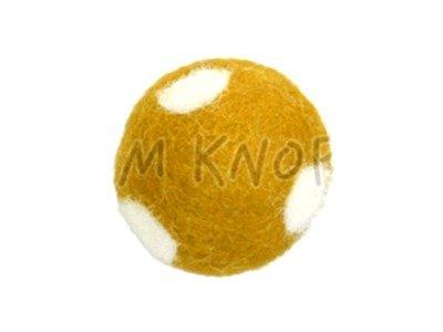 """Jim-Knopf Filz-Applikation """"Kleiner Punkte-Ball"""" 2cm gelb"""
