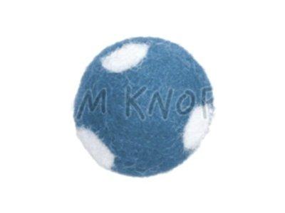 "Jim-Knopf Filz-Applikation ""Kleiner Punkte-Ball"" 2cm hellblau"