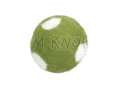 "Jim-Knopf Filz-Applikation ""Kleiner Punkte-Ball"" 2cm grün"
