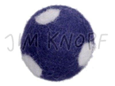 "Jim-Knopf Filz-Applikation ""Großer Punkte-Ball"" 3cm dkl. blau"