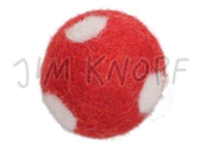 "Jim-Knopf Filz-Applikation ""Großer Punkte-Ball"" 3cm rot"