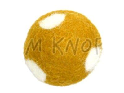"Jim-Knopf Filz-Applikation ""Großer Punkte-Ball"" 3cm gelb"