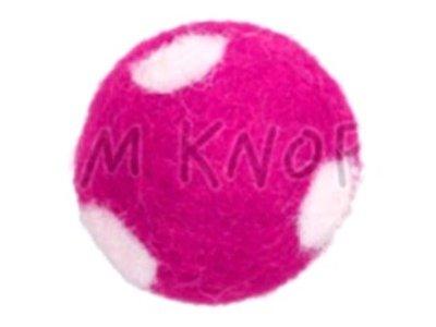 "Jim-Knopf Filz-Applikation ""Großer Punkte-Ball"" 3cm pink"