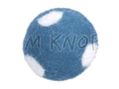 "Jim-Knopf Filz-Applikation ""Großer Punkte-Ball"" 3cm hellblau"