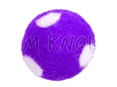 "Jim-Knopf Filz-Applikation ""Großer Punkte-Ball"" 3cm lila"